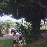 沖縄に帰省中の友人が子どもたちの写真